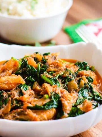 Nigerian style spinach sauce