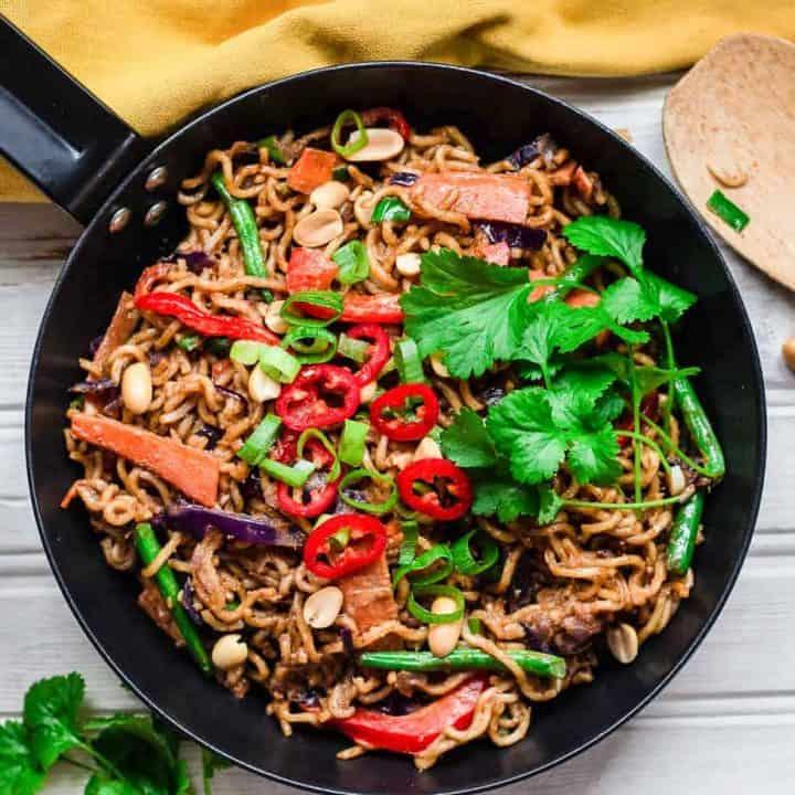 Satay Noodles Stir Fry