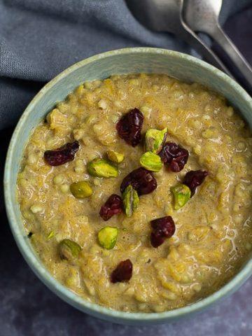 Pumpkin spice buckwheat porridge