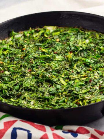 Kuku sabzi Persian herb frittata