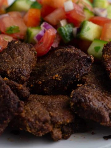 Air fryer beef suya