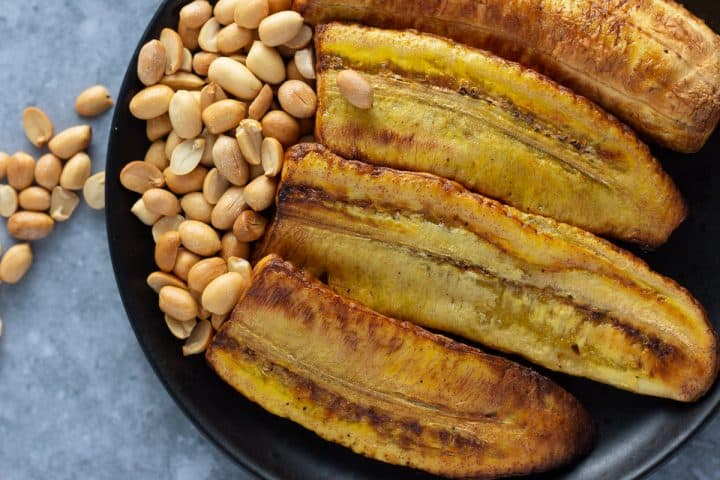 Boli. Roasted plantain made in the air fryer
