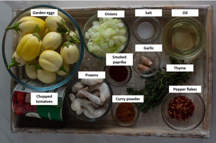 Garden egg stew ingredients
