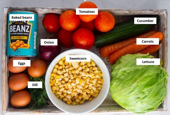 Nigerian salad ingredients